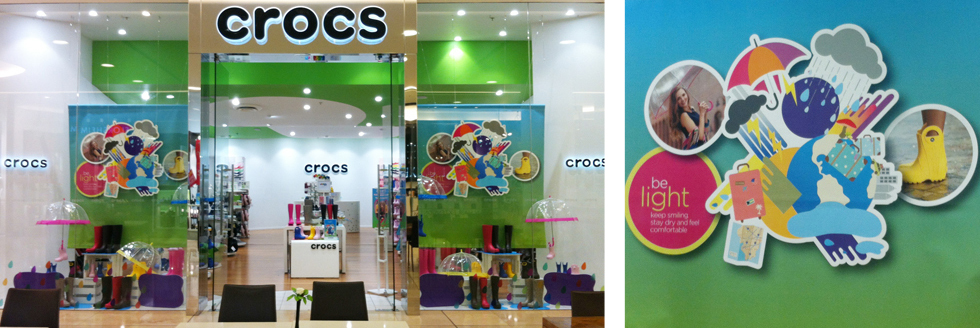 Crocs Window Graphics
