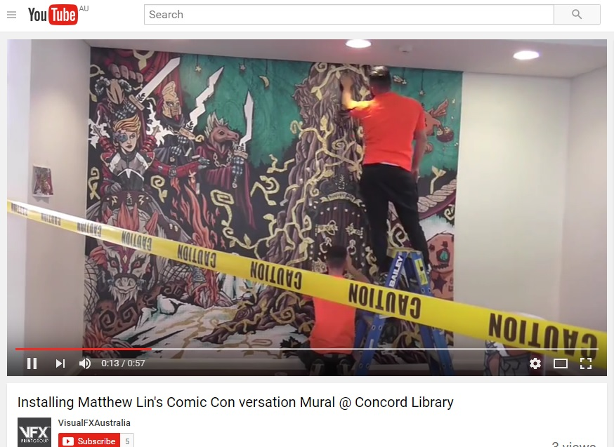 Concord Library mural